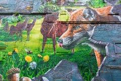 街道艺术在格拉斯哥,英国 免版税图库摄影