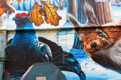 街道艺术在格拉斯哥,英国 免版税库存照片