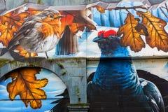 街道艺术在格拉斯哥,英国 免版税库存图片