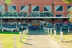 街道艺术在溜冰者区域:Fremantle,西澳州 免版税库存照片
