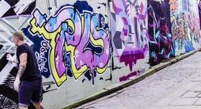 街道艺术在福克斯通肯特 库存图片