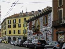 街道艺术在米兰 库存照片