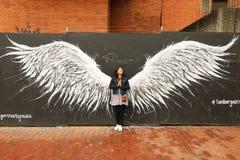 街道艺术在街市波哥大,哥伦比亚 图库摄影