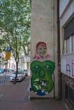 街道艺术在贝尔格莱德 免版税库存图片
