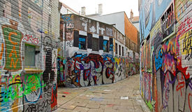 街道艺术在跟特(Gand),街道画(比利时果馅饼 库存图片