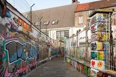街道艺术在跟特Gand,街道画(比利时Fla 免版税图库摄影