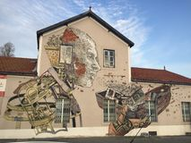 街道艺术在里斯本 图库摄影