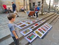 街道艺术在巴塞罗那 免版税库存图片