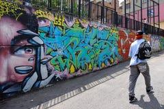 街道艺术在Comuna 13,麦德林 免版税库存照片