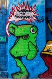 街道艺术在Footscray,澳大利亚 免版税图库摄影