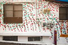 街道艺术在Ihwa壁画村庄 库存图片