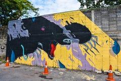 街道艺术在Sukhumvit 32 免版税图库摄影