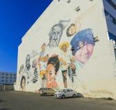 街道艺术坎比其墨西哥 库存照片