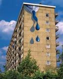 街道艺术墙壁上的油漆管,荷兰 库存图片
