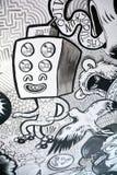 街道艺术奇怪的报告人 图库摄影
