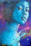 街道艺术妇女在巴黎法国 免版税图库摄影