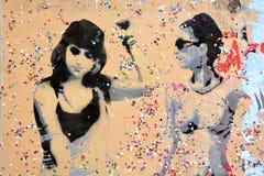街道艺术妇女 库存图片