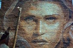 街道艺术妇女 免版税库存图片