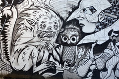 街道艺术妖怪 免版税图库摄影