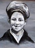 街道艺术孩子 免版税图库摄影