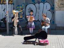 街道艺术家在伊斯坦布尔 免版税库存图片