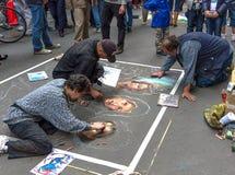街道艺术家在佛罗伦萨,意大利。 库存图片