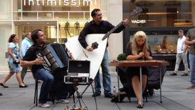 街道艺术家在维也纳 影视素材
