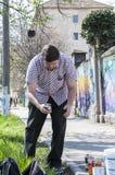 街道艺术家绘画 免版税库存图片