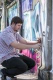 街道艺术家绘画 库存图片