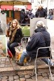 街道艺术家-巴黎 免版税库存照片