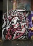 街道艺术是一个主要旅游胜地在墨尔本 库存图片