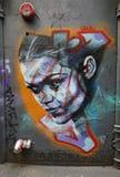 街道艺术是一个主要旅游胜地在墨尔本 免版税图库摄影
