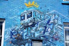 街道艺术机器人 库存照片