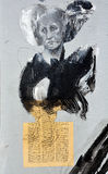 街道艺术柄人柄母鸡 免版税库存图片