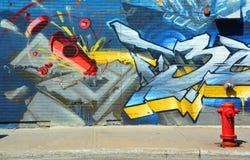 街道艺术消防栓 免版税库存图片