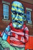 街道艺术纸牌运动员 免版税库存图片