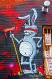 街道艺术蒙特利尔兔子 库存图片