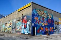街道艺术蒙特利尔凯里价格 免版税图库摄影
