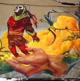 街道艺术蒙特利尔印地安人 免版税图库摄影