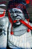 街道艺术蒙特利尔吸毒者 库存照片