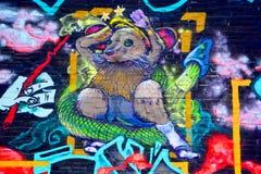 街道艺术蒙特利尔外籍人 图库摄影
