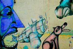 街道艺术蒙特利尔外籍人 免版税库存图片