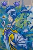 街道艺术蒙特利尔妇女 库存照片