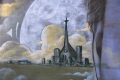 街道艺术蒙特利尔妇女 库存图片
