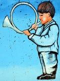 街道艺术蒙特利尔孩子 免版税库存照片