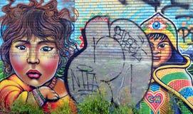 街道艺术蒙特利尔孩子 库存图片