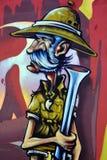 街道艺术蒙特利尔徒步旅行队猎人 库存图片