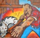 街道艺术蒙特利尔木匠 库存照片