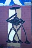 街道艺术蒙特利尔机器人 免版税图库摄影