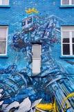 街道艺术蒙特利尔机器人 免版税库存照片